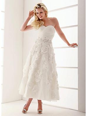 Lanting Bride® Linha A / Princesa Pequeno / Tamanhos Grandes Vestido de Noiva - Clássico e atemporal / Elegante e Luxuoso / Recepção