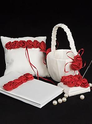 vastag piros rózsa luxus bélelt esküvői kollekcióját készlet (4 db)