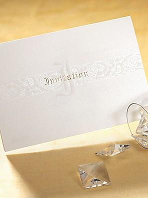 Nem személyre szabott Felfelé nyíló Esküvői Meghívók Meghívók Művészeti stílus / Klasszikus stílus / Modern stílus Gyöngy-papír16,6*11,5
