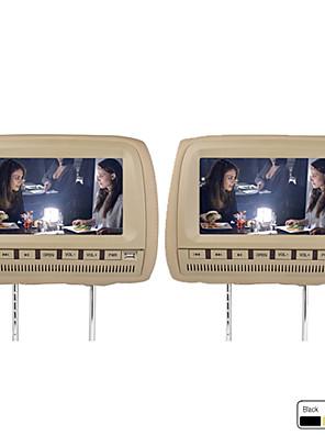 """9 """"samochodów Zagłówek DVD wsparcie fm nadajnik bezprzewodowy gry darmowe słuchawki (1 para)"""