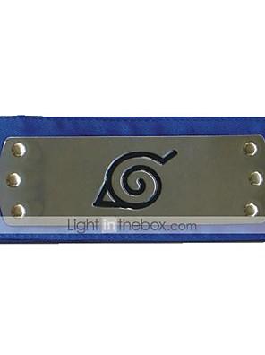 תכשיטים / אביזר לשיער קיבל השראה מ Naruto קוספליי אנימה אביזרי קוספליי רצועת ראש שחור / אדום / כחול סגסוגת / פוליאסטר זכר / נקבה