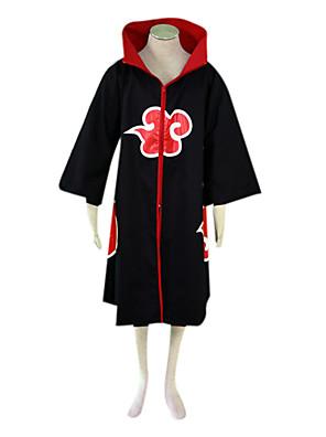 קיבל השראה מ Naruto Sarutobi Sasuke אנימה תחפושות קוספליי חליפות קוספליי קולור בלוק שחור שרוולים ארוכים גלימה