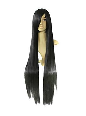 פאות קוספליי K-ON Mio Akiyama שחור ארוך אנימה פאות קוספליי 100 CM סיבים עמידים לחום נקבה