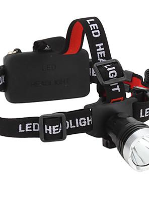 תאורה פנס LED / פנסי ראש LED 160 Lumens 3 מצב Cree XM-L T6 18650 עמיד למים / ניתן לטעינה מחדש / קל במיוחד / גודל קומפקטי / גודל קטן