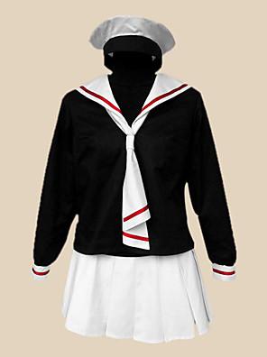 Inspirovaný Cardcaptor Sakura Tomoyo Daidouji Anime Cosplay kostýmy Cosplay šaty / Školní uniformy Patchwork Czarny Dlouhé rukávyTrička /