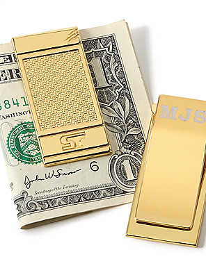 gift groomsman gepersonaliseerde goud tint geld clip