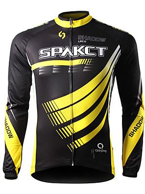 SPAKCT® Cykeltrøje Herre Langt Ærme Cykel Åndbart / Hurtigtørrende / Ultraviolet Resistent / Påførelig Trøje / Toppe 100% Polyester