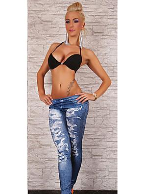 leggings jeans da moda das mulheres