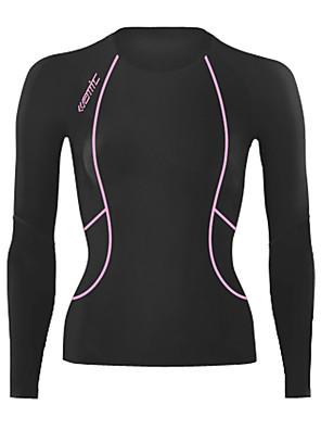 SANTIC® שכבת בסיס לרכיבה לנשים שרוול ארוך אופניים נושם / שמור על חום הגוף ג'רזי / שכבות בסיס / טייץ רכיבה על אופניים / צמרות ספנדקס אחיד