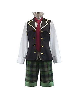 קיבל השראה מ Pandora Hearts Oz Vessalius אנימה תחפושות קוספליי חליפות קוספליי טלאים לבן / ירוק / חום שרוולים ארוכיםוסט / חולצה / מכנסיים