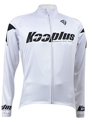 KOOPLUS® ג'קט לרכיבה לגברים שרוול ארוך אופניים נושם / ייבוש מהיר / בטנת פליז / רוכסן קדמי ג'רזי / צמרות 100% פוליאסטר / צמר / גיזות אחיד