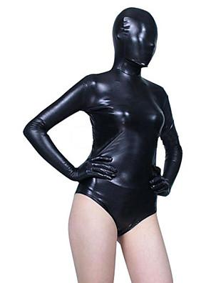 חליפות Zentai מבריקות Ninja Zentai תחפושות קוספליי שחור אחיד /סרבל תינוקותבגד גוף / Zentai ספנדקס נקבה האלווין (ליל כל הקדושים) / חג המולד