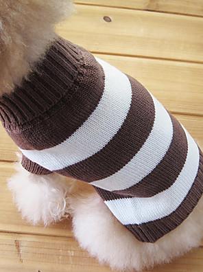 חתולים / כלבים סוודרים חום בגדים לכלבים חורף Raita אופנתי / Keep Warm