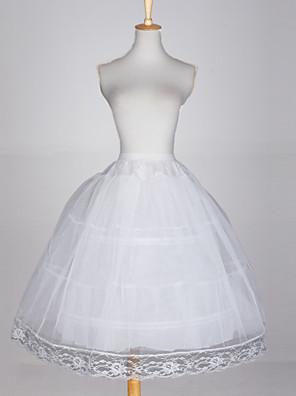 Nylon vestido vestido de baile cheio Tier 3 Deslizamento Estilo / casamento Petticoats