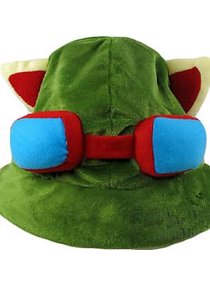 Čepice / klobouk Inspirovaný LOL Teemo Anime a Videohry Cosplay Doplňky Nabírané / Klobouk Zielony polar fleece Pánský