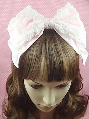 Šperky Sweet Lolita Doplňky do vlasů Princeznovské Růžová Lolita Příslušenství Vlasové ozdoby Mašle / Jednobarevné Pro Dámské Bavlna