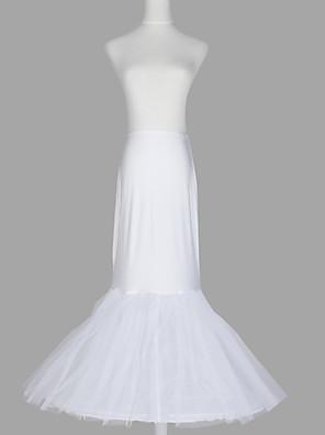nylon sereia e trompete vestido 2 do assoalho-comprimento de deslizamento de estilo / casamento anáguas linha