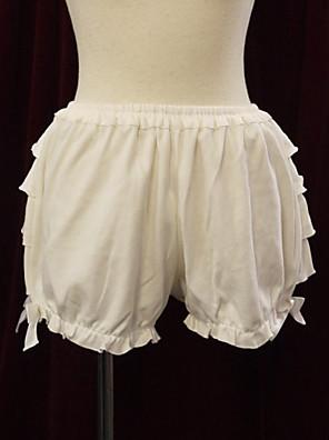 Kalhoty Sweet Lolita Lolita Cosplay Lolita šaty Bílá Jednobarevné Lolita Lolita Šaty Pro Dámské Bavlna