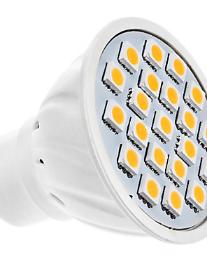 5W GU10 LED-spotlampen MR16 20 SMD 5050 320 lm Warm wit AC 220-240 V
