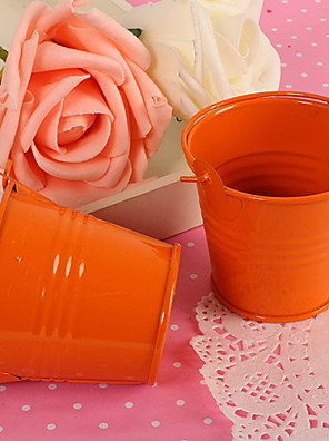 Orange Mini Candy fordel kasse Pail Bucket Wedding Party Favor-Set af 12