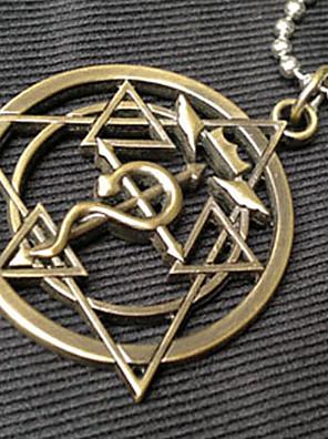 Šperky Inspirovaný Fullmetal Alchemist Edward Elric Anime Cosplay Doplňky Náhrdelníky Zlatá Stal nierdzewna Pánský