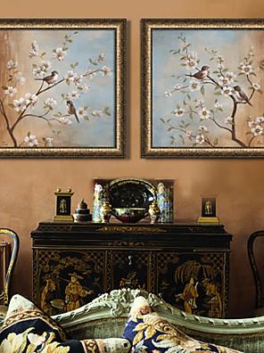 Dier Ingelijst canvas / Ingelijste set Wall Art,PVC Bruin Zonder passepartout met Frame Wall Art