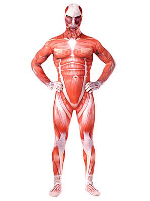 קיבל השראה מ Attack on Titan Bertolt Huber אנימה תחפושות קוספליי חליפות קוספליי טלאים / דפוס אדום Leotard