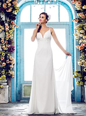 Lanting Bride® Pouzdrové Drobná / Nadměrné velikosti Svatební šaty - Klasické & nadčasové / Okouzlující & dramatické Open BackDlouhá