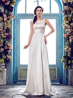 Lanting Bride® Tubinho Pequeno / Tamanhos Grandes Vestido de Noiva - Clássico e atemporal / Glamouroso e Dramático Cauda EscovaDecote em