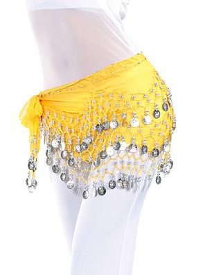ריקוד בטן חגורה בגדי ריקוד נשים אימון שיפון חרוזים / מטבעות צעיף מותניים לריקודי בטן