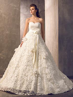 Lanting Bride® Linha A / Princesa Pequeno / Tamanhos Grandes Vestido de Noiva - Chique e Moderno / Elegante e Luxuoso / Glamouroso e