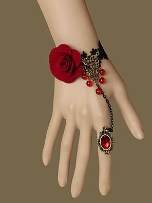 Šperky Gothic Lolita Kroužek Retro Červená / Zlatá Lolita Příslušenství Náramek / Kroužek Krajka Pro DámskéNetkaná textilie / Slitina /