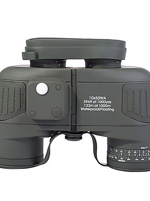 10 x 50 floating kikkert med RANGEFINDER og kompasreticle