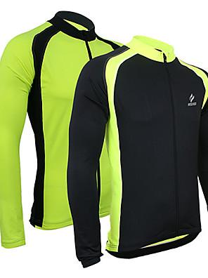 Arsuxeo® חולצת ג'רסי לרכיבה לגברים שרוול ארוך אופניים נושם / שמור על חום הגוף / ייבוש מהיר / רוכסן קדמי / תומך זיעה ג'רזי / ג'קט / צמרות