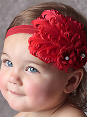 Lány Red Flower Hairband