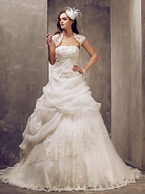 Lanting Bride® De Baile Pequeno / Tamanhos Grandes Vestido de Noiva - Elegante e Luxuoso / Glamouroso e DramáticoVestidos de Casamento