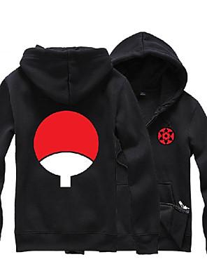 Inspirado por Naruto Sasuke Uchiha Anime Fantasias de Cosplay Hoodies cosplay Estampado Preto Manga Comprida Top