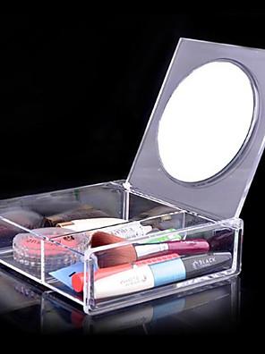 Opbevaringsløsninger til makeup Kosmetik Boks / Opbevaringsløsninger til makeup Akryl Ensfarvet 14.8 x 15.0 x 4.6