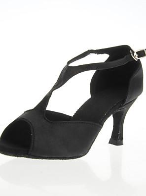 női szatén felső bálterem tánc cipő peep toe cipőt latin