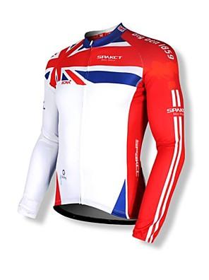 SPAKCT® חולצת ג'רסי לרכיבה לגברים שרוול ארוך אופניים נושם / שמור על חום הגוף / ייבוש מהיר / רוכסן קדמי / עמיד לאבק / לביש / רוכסן YKK