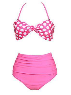 Kvinder Vintage Style Pink Polka Bikini