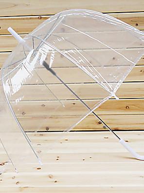 비오는 블루 캐주얼 로리타 투명 우산