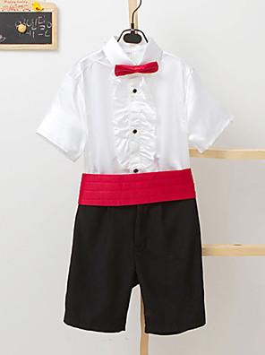 Směs polyesteru a bavlny Oblek pro mládence - 4 Pieces Obsahuje Tričko / Kalhoty / pas / Motýlek