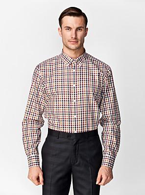 černá a hnědá a červená a bílá 100% bavlna gingham košile