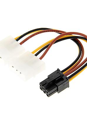 4 הפינים Molex ל6 פינים PCI-E מתאם מתח (12cm)