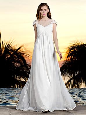 lanting 신부 시스 / 아담 열 / 플러스 웨딩 드레스 층 길이 BATEAU 얇은 명주 그물 / 조젯 크기