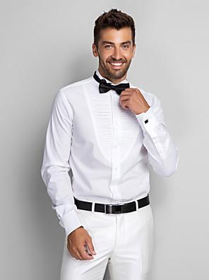 Algodão Branco Sólido camisas