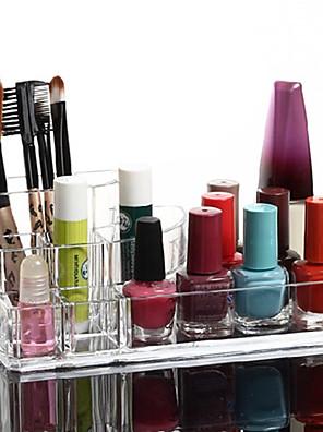 Opbevaringsløsninger til makeup Kosmetik Boks / Opbevaringsløsninger til makeup Plastik / Akryl Ensfarvet 17x10x6.5 Bisque