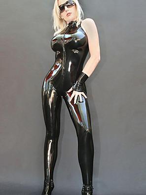 Lady Punk Ladygaga o estilo de Preto PU Mulheres Stage Sexy Uniform