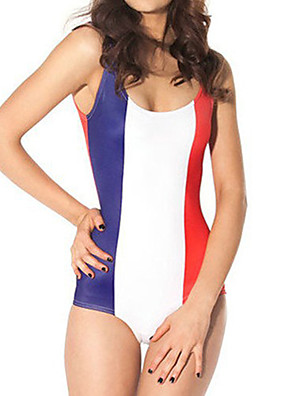 French Flag Pattern Spandex Women's Swimsuit